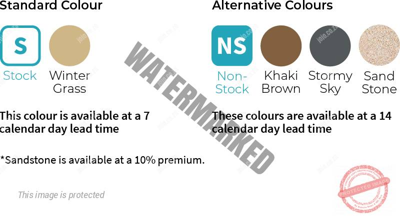 1000 Litre Slimline Rainwater Storage Tank: Available Colours